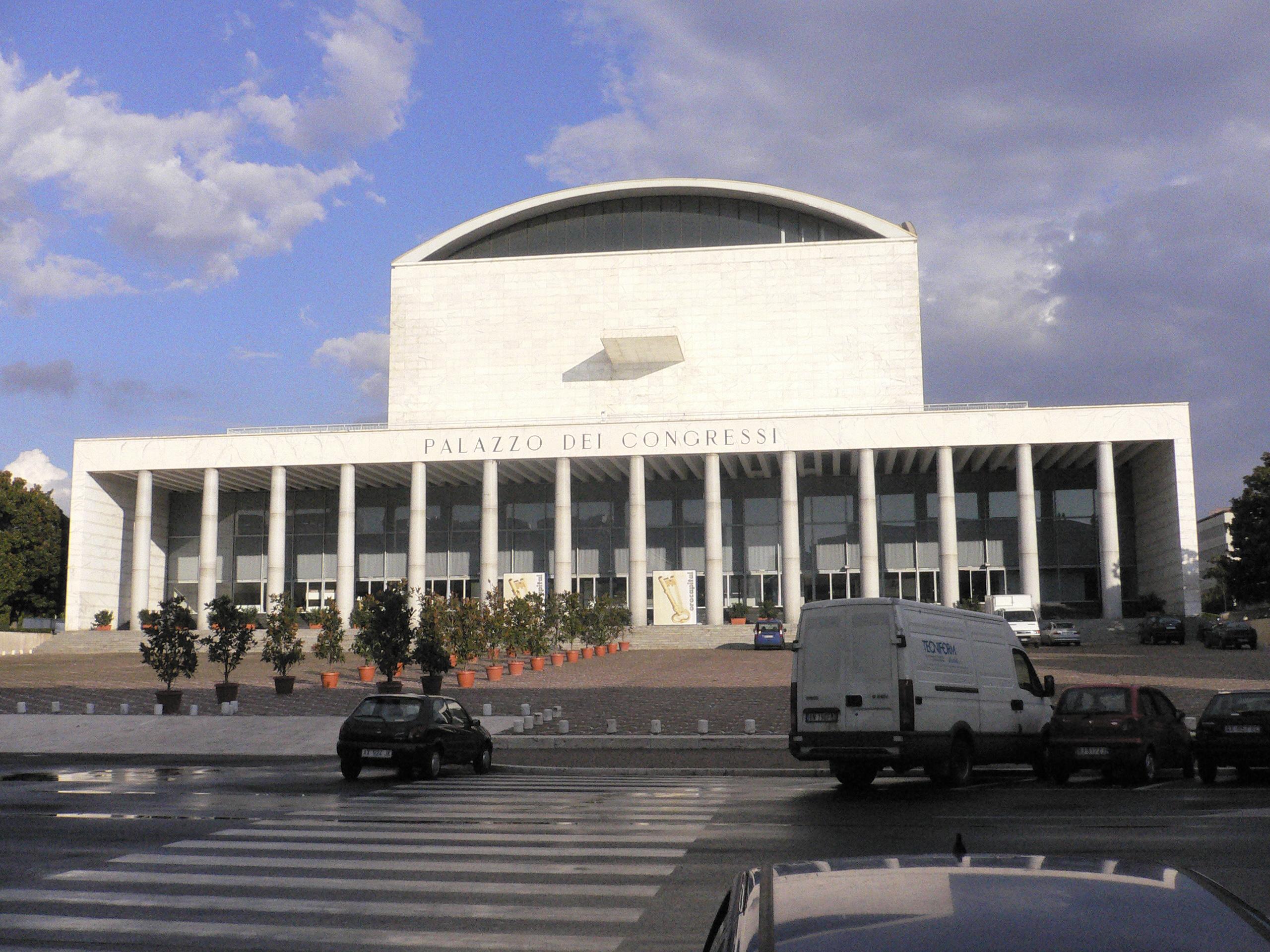 Le Palais des réceptions et des congrès de Rome